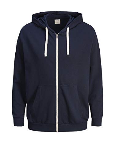 JACK & JONES Herren Jjeholmen Sweat Zip Hood Noos Sweatjacke, Blau (Navy Blazer Fit: Reg Fit), L