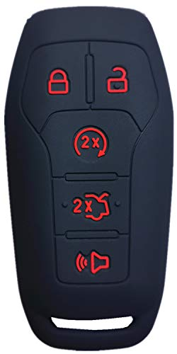 RUNZUIE Silicone Keyless Entry Remote Key Fob Cover Case Protector Fit for...