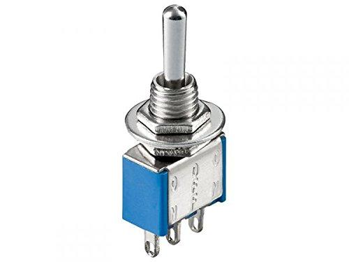 modellbahn-exklusiv 5182 - Miniatur Kippschalter 1xUM EIN-EIN oder EIN-AUS 6A/250VAC