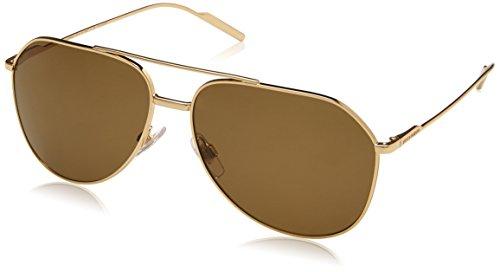 Dolce & Gabbana Herren 0DG2166 02/83 61 Sonnenbrille, Gold (Gold/Polarbrown)