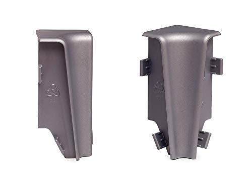 KGM Innenecken für Sockelleiste MEGA-Profil (20 x 58 mm) Aluminium – Maße: 20 x 58 mm – 2 Stück