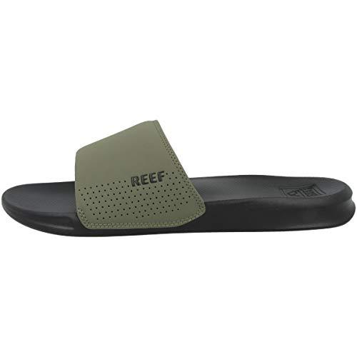 Reef Men's Fashion Casual Slide Sandal, Black/Olive, 6.5 UK
