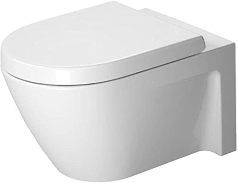 Duravit Starck 2 Wand-WC (ohne Deckel) (ohne Deckel) wei 370 x 540 mm, mit Wondergliss, 25340900001