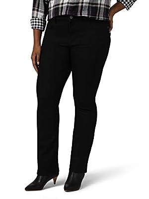 Riders by Lee Indigo Women's Plus Size Midrise Bootcut Jean, Black, 22W