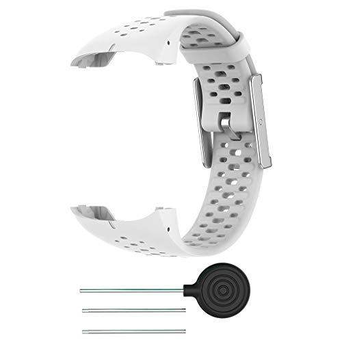 zrshygs Banda de Correa de muñeca de Silicona de Reloj Inteligente para Pulsera Transpirable Polar M400 M430