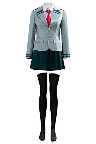 Disfraz de My Hero Academia Uniforme Asui Tsuyu Ochaco Uraraka Cosplay Costume Uniforme Escolar Japones para Mujeres
