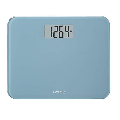 Taylor Compact Digital Glass Scale, Spa Blue
