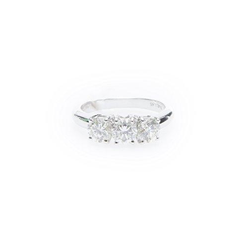 Quercia gioielli - Anello trilogy diamanti oro bianco diamanti taglio brillante 1.45 pts G SI grammi oro 750 4,60