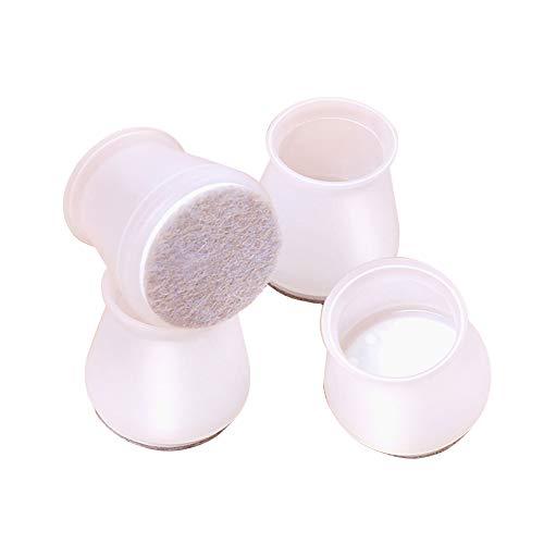 20 Stück Silikon-Stuhlbein-Bodenschoner für runde und quadratische Stuhlbeine, Stuhlbein-Bodenschoner für Möbel, verhindert Kratzer und Lärm (3,3–3,8 cm)