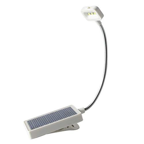 OSALADI Luz de Libro Led Luz de Lectura de Recarga Usb con Batería Luz de Libro de Cuidado de La Energía Solar Clip de Cuello de Cisne Flexible en Luz de Libro para Leer en La Cama Kindle