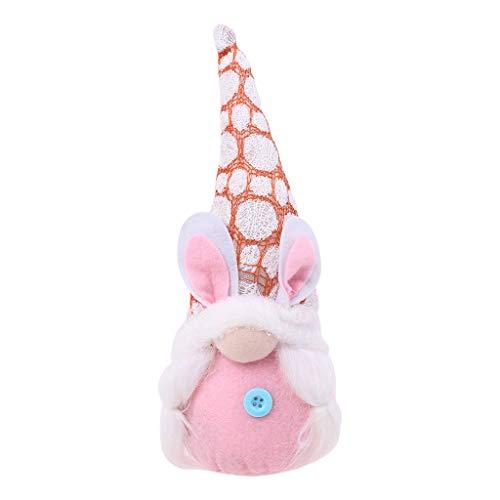 Boji Conejo de Pascua, gnomo, decoración, muñecos de Navidad, elfos de Pascua, gnomos hechos a mano, adornos de peluche, regalos de Pascua