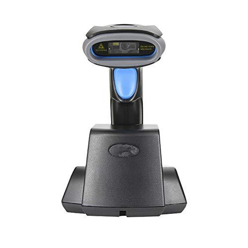 CuteLife Scanner de Code à Barres Scanner avec Base COMS Image Tête de Balayage Automatique sans Fil Balayage continu de supermarché Recettes de détail (Couleur : Noir, Taille : 90X67X168MM)
