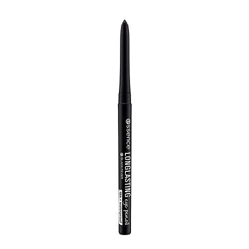 essence LONG-LASTING eye pencil, Kajal, 18 Stunden Halt, wasserfest, Nr. 01 black fever, schwarz, definierend, langanhaltend, vegan, Nanopartikel frei, ohne Parfüm (0,28g)