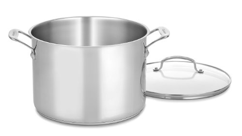 Cuisinart 76610-26G Chef's Classic 10-Quart Stockpot with Glass Cover