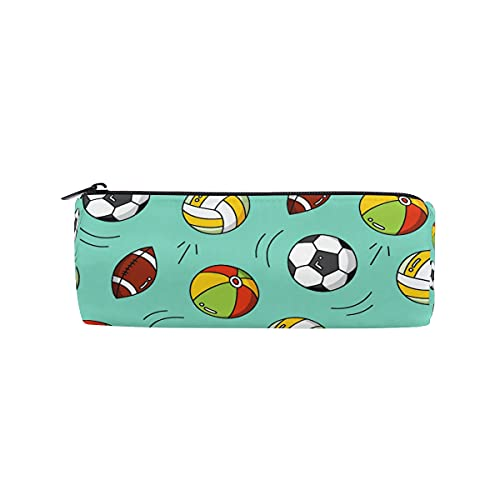 HaJie - Estuche para lápices de fútbol con cremallera, para niñas, niños, mujeres y hombres