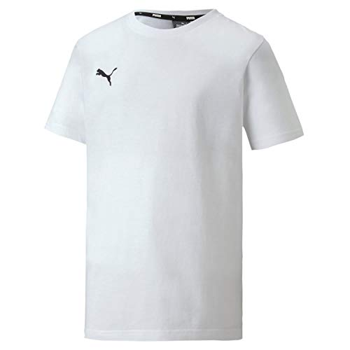 PUMA Jungen, teamGOAL 23 Casuals Tee Jr T-shirt, Weiß, 152