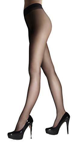 Marilyn super-pure panty's, natuurlijke look, zoals make-up voor de benen, met comfort tailleband, 8 Denier - Zwart - M