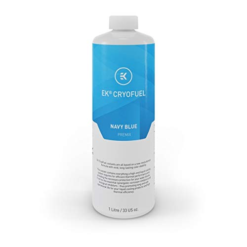 EKWB EK-CryoFuel Navy Blue (Premix 1000mL) Kühlmittel, blau/transparent, 1 Liter
