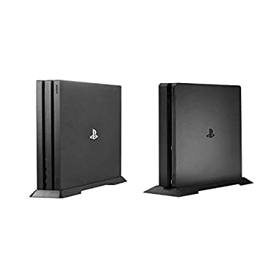Younik PS4 Pro/PS4 Slim Vertical Stand for Playstation 4 Pro/Slim with Built-in Cooling Vents and Non-Slip Feet