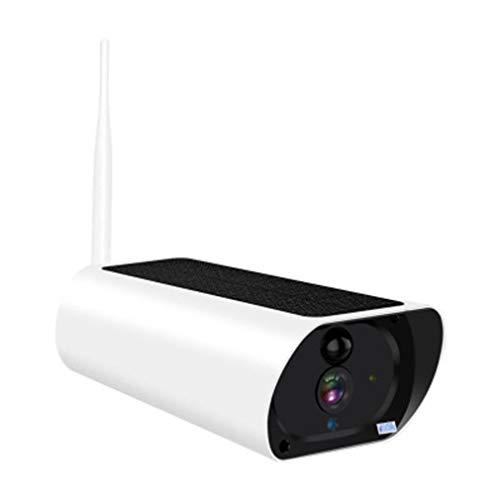 Cámara IP WiFi de energía Solar 1080P para Exteriores 3G 4G Tarjeta SIM Batería de Audio Cámara de vigilancia HD inalámbrica PIR gsm Blanco + Negro