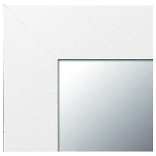 -Espejo Fabricado en España- Espejo Decorativo de Pared 64x84 Modelo 142 Blanco, Ideal para salón, Dormitorio, vestidor, baño o Pasillo (64X84, Blanco)