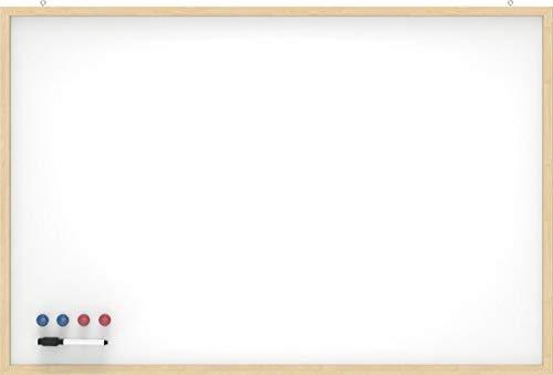 MAUL 25360-02 whiteboard met houten frame, (B) 900 x (H) 600 mm