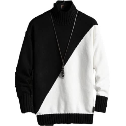 Jersey para Hombre Manga Larga Moda Costura Bloque de Color Contraste de Color Ocio Casual Tamaño Grande XL