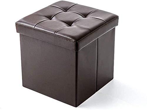 Taburetes Banco de madera GR-XMD, Caja de almacenamiento plegable Poffee Cubo de almacenamiento Ottomano Taburete de almacenamiento de juguetes para niños Use la sala de estar dormitorio, sofá heces (