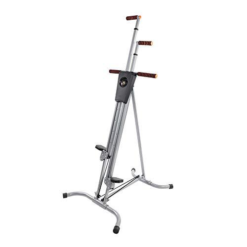 GOTOTO Máquina de Escalada Stepper Fitness Gravur Vertical Gym, Altura Ajustable, Antideslizante, Plegable, Carga máxima 200 kg, ejercitar Hombros, Espalda, Brazos y músculos Abdominales