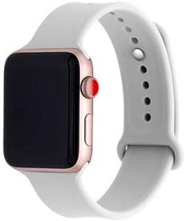 Apple Watch Kordon 1 2 3 4 5 Seri 38mm-40mm Silikon Kayış Antik Beyaz