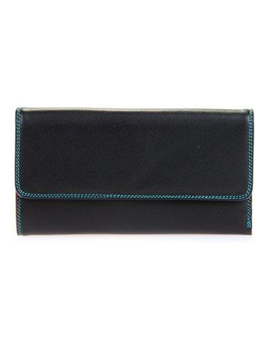 Mywalit - leder damen Geldbörse - Tri-fold w/outer zip purse - 269-4 - black pace