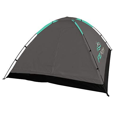 FE Active - Tenda da Campeggio per 3 - 4 Persone con zanzariera, Facile da Montare, Impermeabile per Outdoor, Campeggio, Viaggi, Escursionismo, Trekking, Pesca, Camping | Disegnati in California, USA