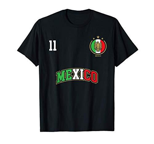 Equipo Deportivo Fútbol México No 11 Bandera mexicano Camiseta