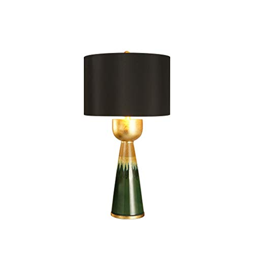 Lámpara de cabecer Lámpara de mesa de cerámica color base de la lámpara for Mesilla de noche cónica del tambor de la sala de la familia dormitorio de noche regalo de iluminación 360 Lámparas de mesa d