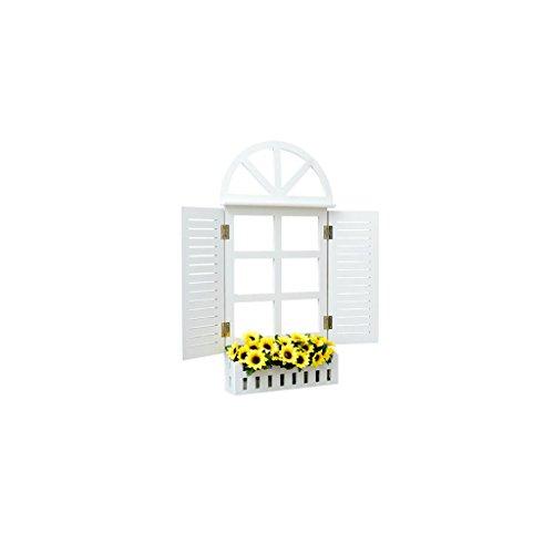 Lingyun Étagère- Support à fleurs en bois massif ➫ Décoration de salon ❀ Support à plantes Decoration Décoration murale ❀ Support à fleurs ❁ Étagère en bois multifonctionnel ❀ Support à fleurs ❁ Présentoir ( taille : 33.5*7*56.5CM )