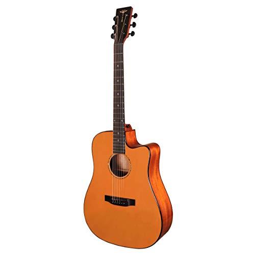 Tyma D-3CE OS Orange - Guitarra de acero con pastilla...