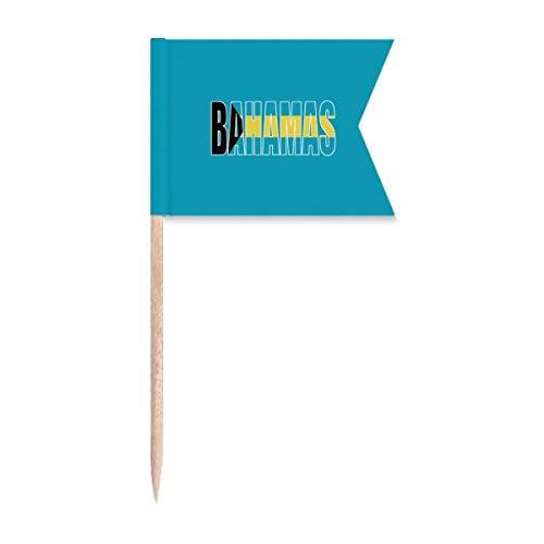 Beauty Gift Name der Flagge des Bahamas Markierung für die Kennzeichnung von Zahnstocher-Flaggen