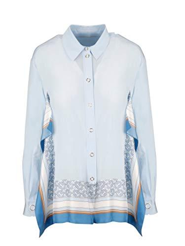 BURBERRY Luxury Fashion Damen 4560857 Hellblau Seide Hemd | Jahreszeit Outlet