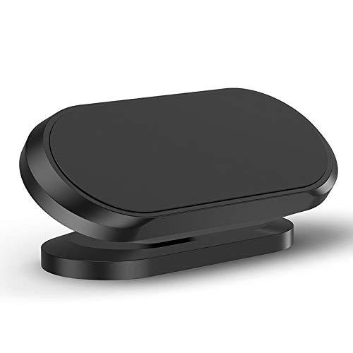 Suading Soporte magnético para teléfono móvil para salpicadero de coche plano de rotación de 360 ° Soporte de teléfono celular compatible con negro 1 paquete