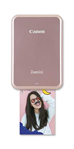 "Canon Zoemini smartphone photo printer (Pink) – Get instant 2x3""..."
