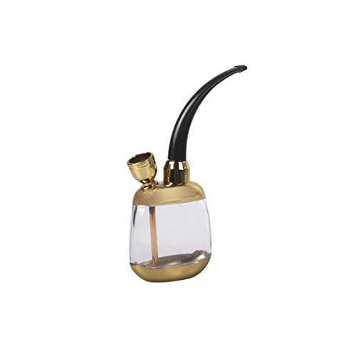 1pc Tabaco Pipas De Fumar Cigarrillos Cachimba Del Tubo De Agua Portátiles Mini Juego Completo (oro) Utilidades Prácticas Para Herramientas