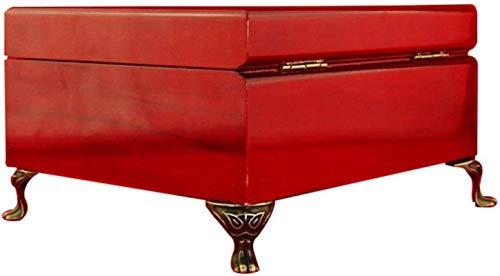 HZWLF 4 Piezas Protector de Pierna para Muebles Joyería de aleación Antigua Caja de Vino Cofre de Madera Pies Decorativos Esquina de la Pierna Proteger la Esquina de los Muebles, Regalos Familiares