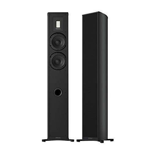Piega Premium 701 Wireless Standlautsprecher (Paar) schwarz eloxiert 1908 Bluetooth – schön verarbeitet – ausgewogener Klang von Bass bis Höhen