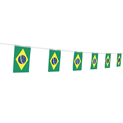 """TSMD Brazil Flag, 100 Feet Brazilian Flag National Country World Flags Banner,Party Decorations for Olympics,World Cup,Bar,School Sports Event,International Festival Celebration (8.2"""" x 5.5'')"""