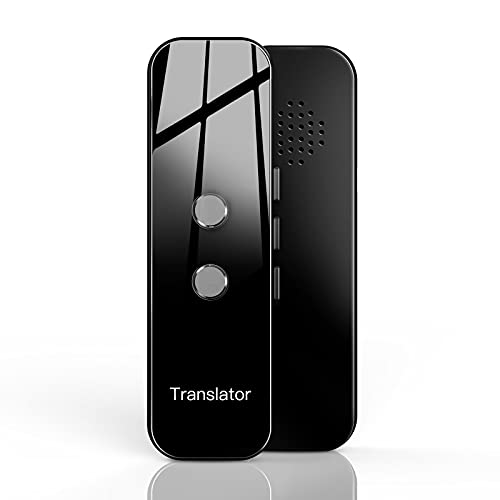 Language Translator Device, Portable Two Way Instant Voice Bluetooth Translator Support 70+ Languages Online Translation, Photo Translation for Travelling Learning Business Shopping