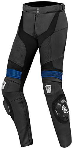 Berik Flexius Motorrad Lederhose Schwarz/Blau 50