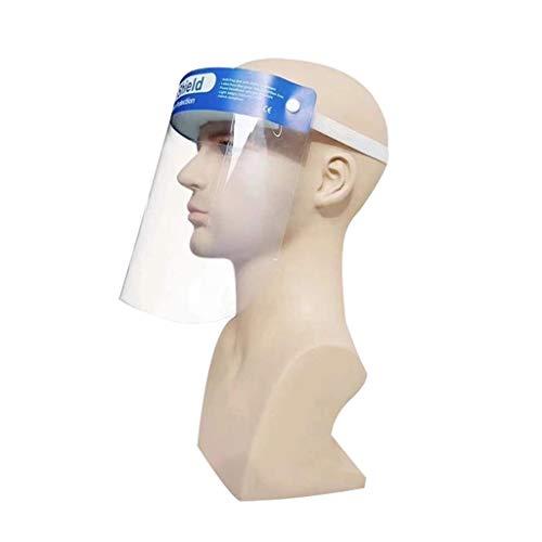 JHK Gesichtsschutzschild Visier Mit Schwamm, HD Transparent Anti-Fog Isolierter Bildschirm PVC Kunststoff Atemschutz Visier Anti-Speichel Winddicht Staubdicht Schutz Augen Und Gesicht