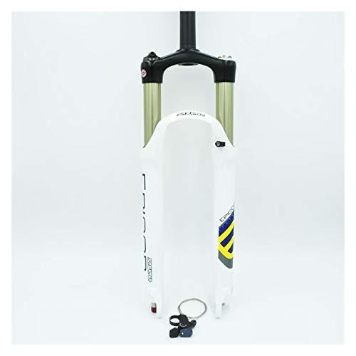 WFBD-CN Mountainbike-Gabel Fahrradgabel 26 Remote White Mountain MTB Fahrradgabel der Luftdämpfung Vorderer Gabel 100mm Reise Fahrradsuspension Gabeln. (Color : 26 White Remote)
