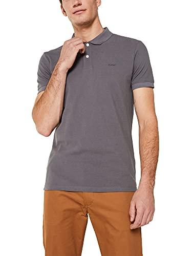 ESPRIT Herren Classic Piqué Poloshirt, 020/DARK Grey-New Version, XL