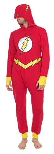 DC Comics The Flash Pyjama une pièce à capuche pour adulte - Multicolore - L